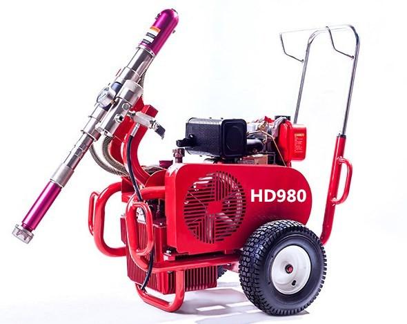 HD980汽油 柴油 电动版腻子喷涂机